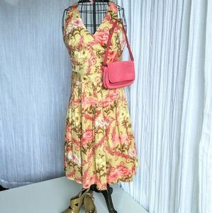 Kay Unger New York floral halter dress EUC size 8